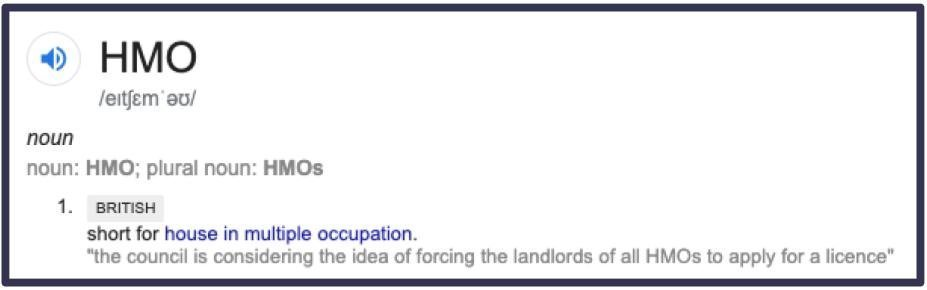 House of Multiple Occupation (HMO) Definition